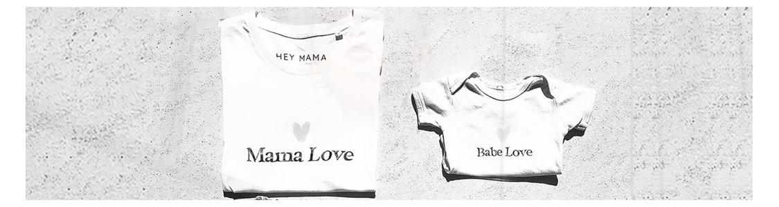 T-shirt bebes et mamans assortis | HEY MAMA