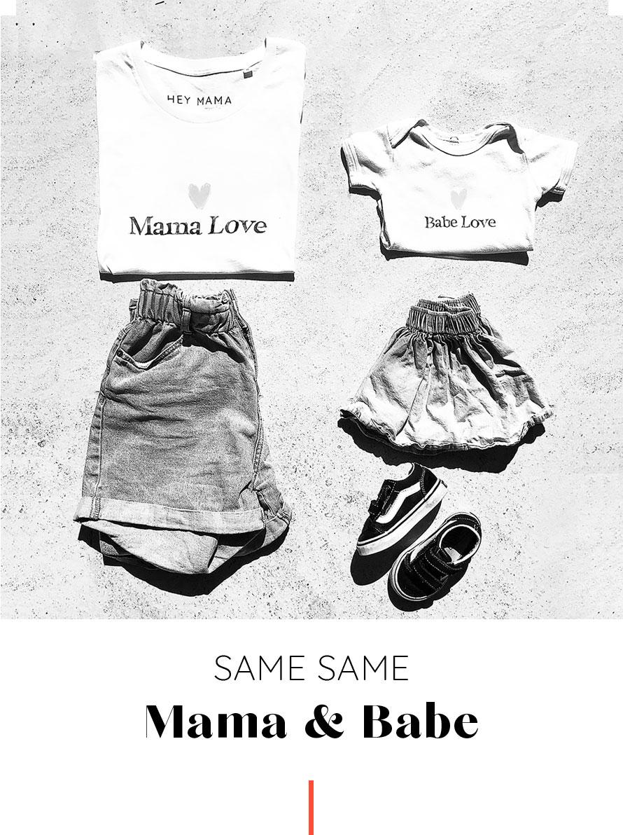 T-shirt mamans et bebes assortis